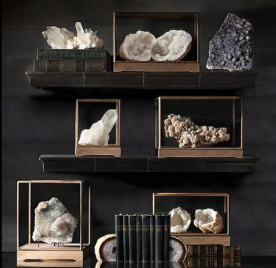 displaying a stone collection
