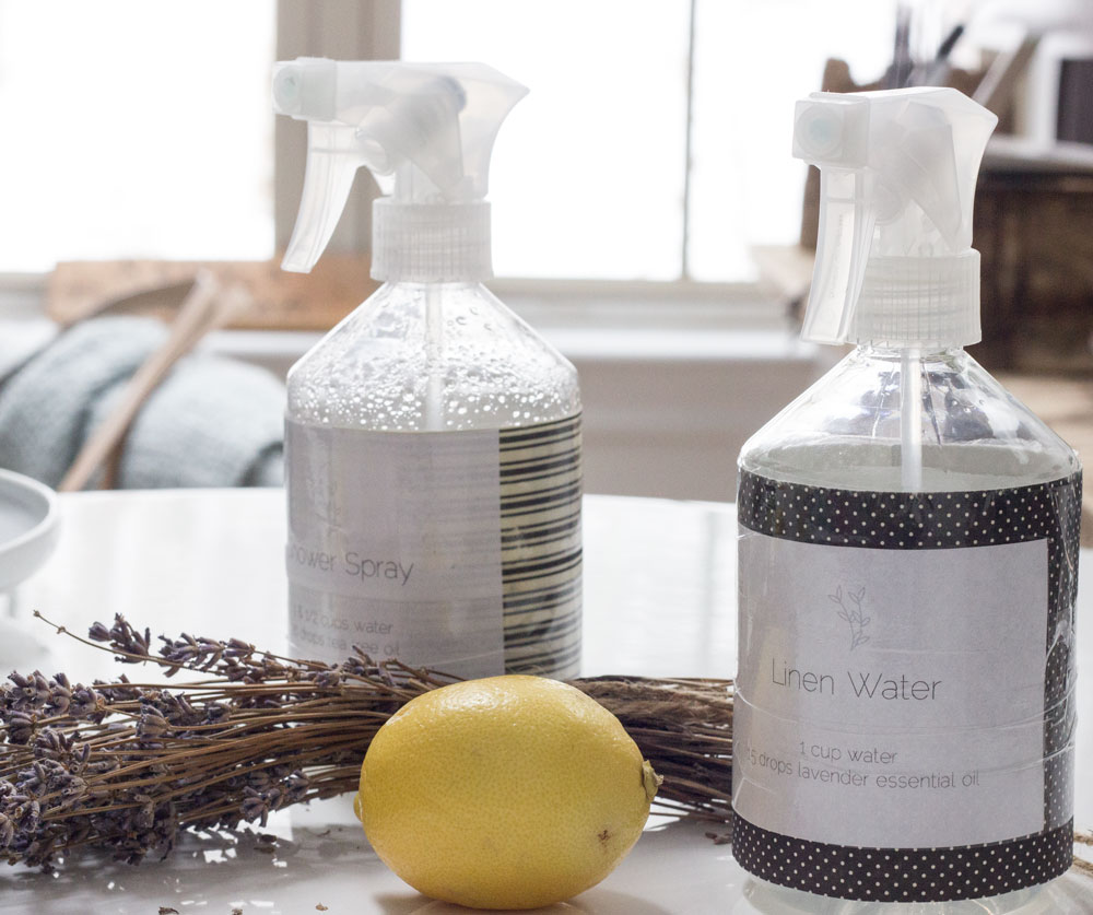 downloadable labels and formulas for natural cleaning supplies