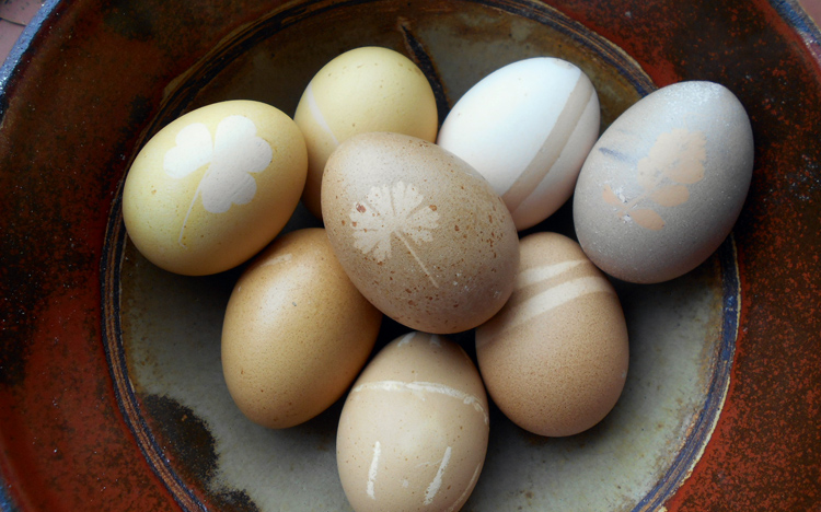 herbal natural Easter Eggs