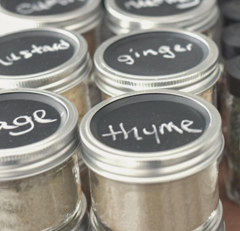 mason jar spice storage and organization
