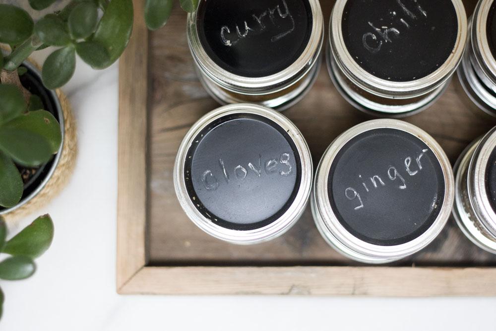 mason jar spice organization