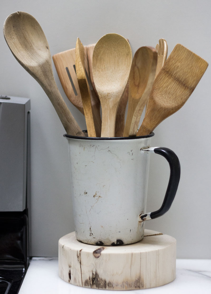 smart and simple kitchen tool organization