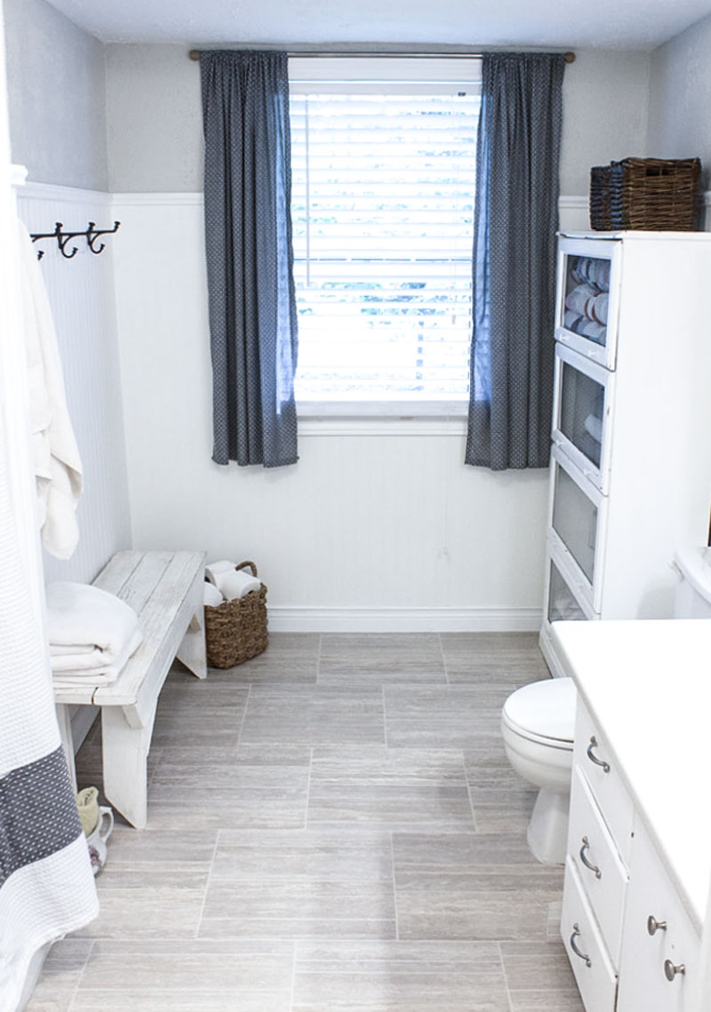 budget bathroom refresh - universal design