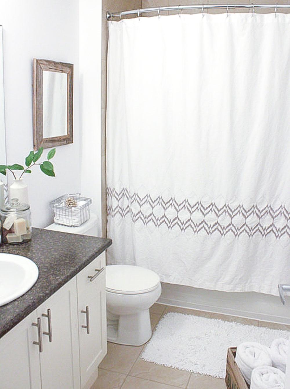 small simple condo bathroom