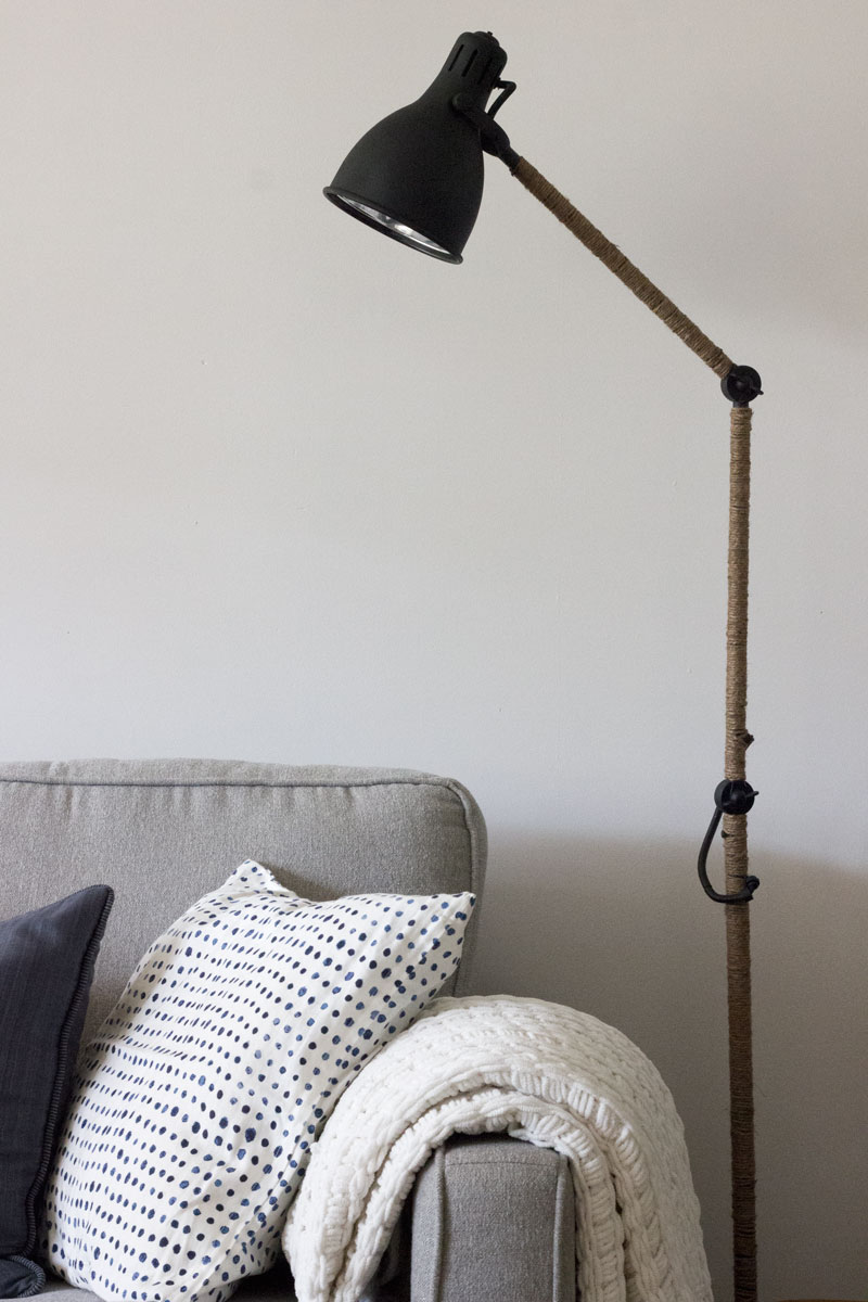 West Elm Inspired Industrial Floor lamp - IKEA hack