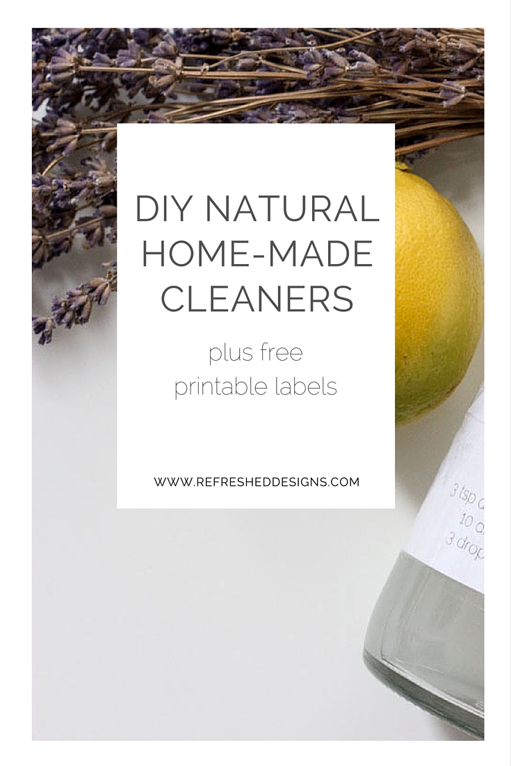 DIY Natural Homemade cleaners and printable labels