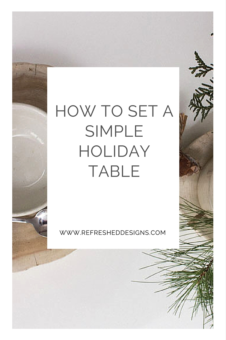 how to set a simple holiday table