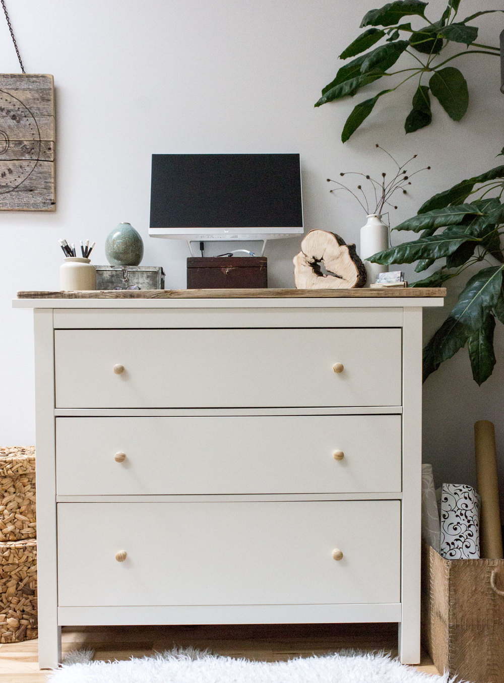Click for full post on DIY standing desk from an IKEA dresser