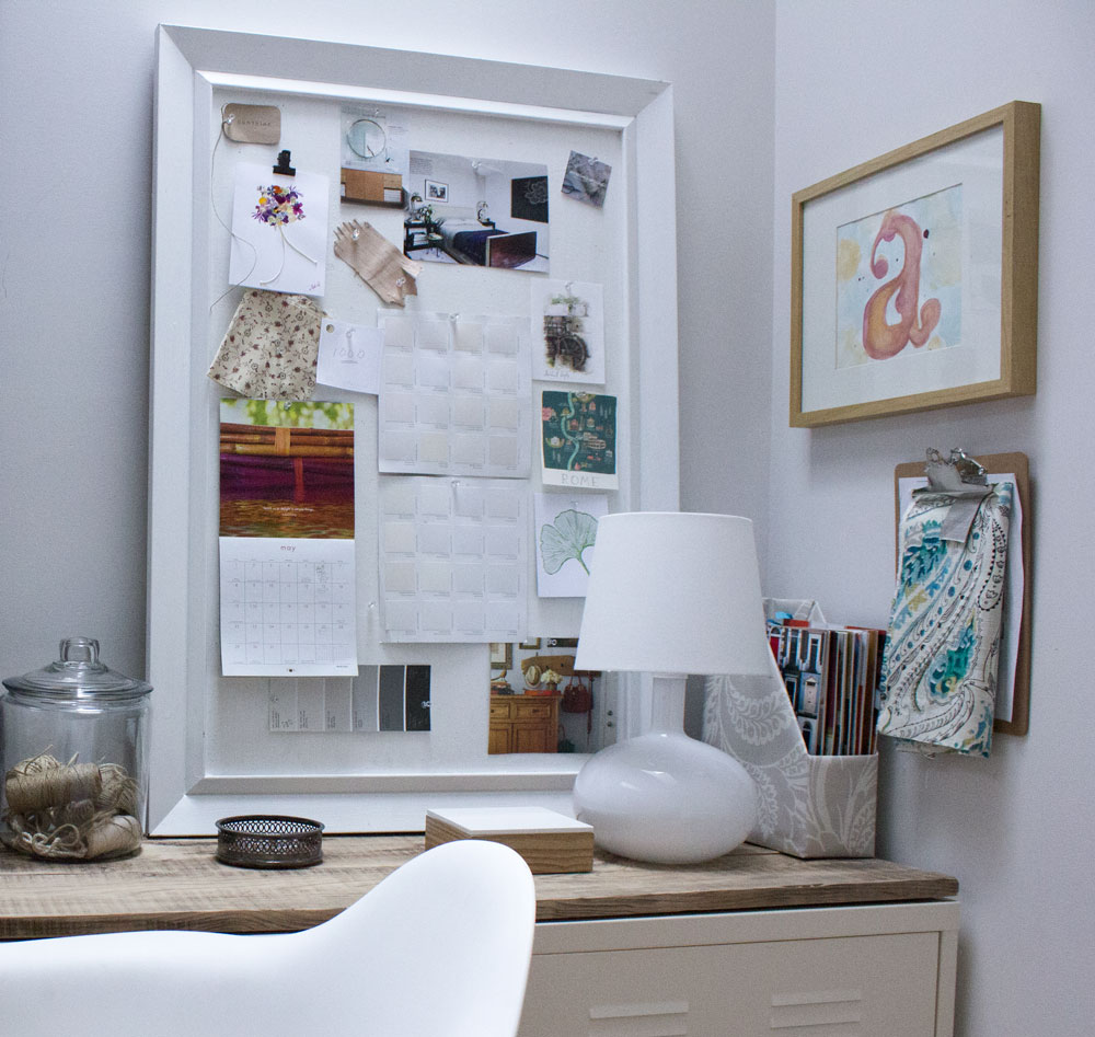 modern rustic office with organization hacks for simplicity