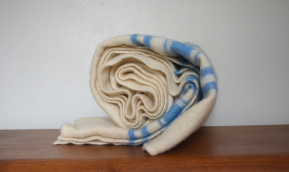 vintage wool blanket for a comfy winter home