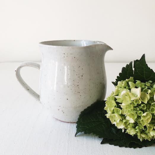 handmade ceramic creamer