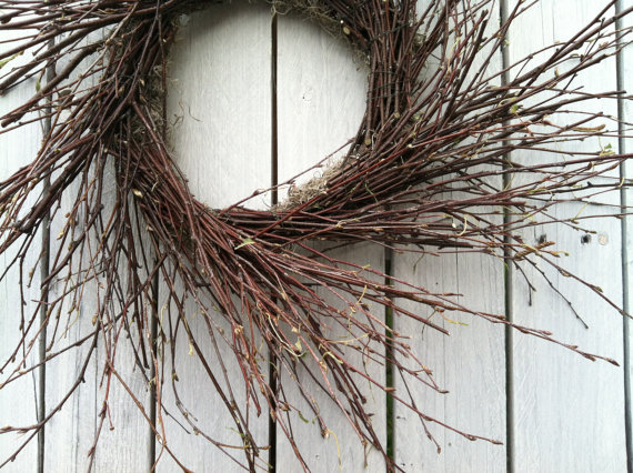 birch twig wreath