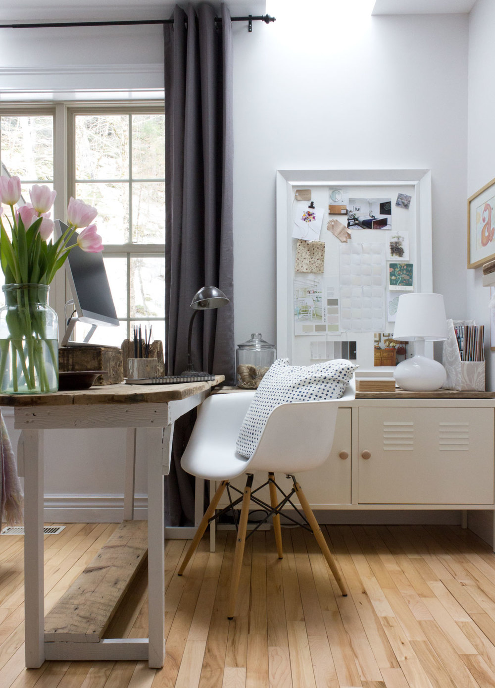 real-life office with organizational hacks