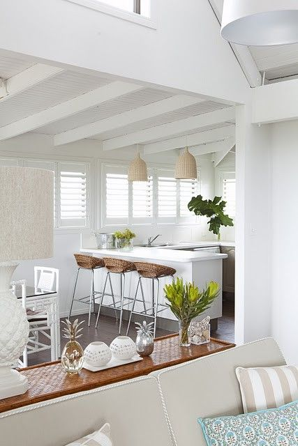 white beach house - how to create a light, bright home