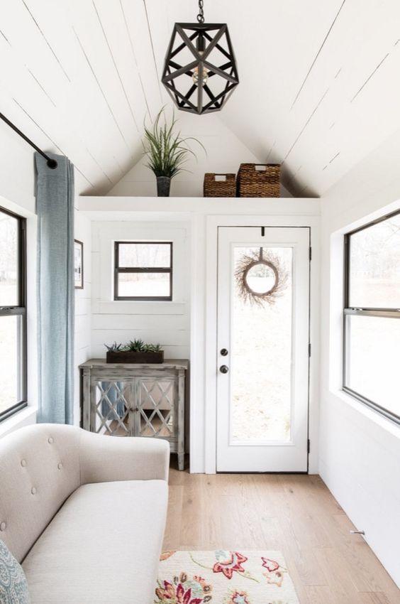 white tiny house