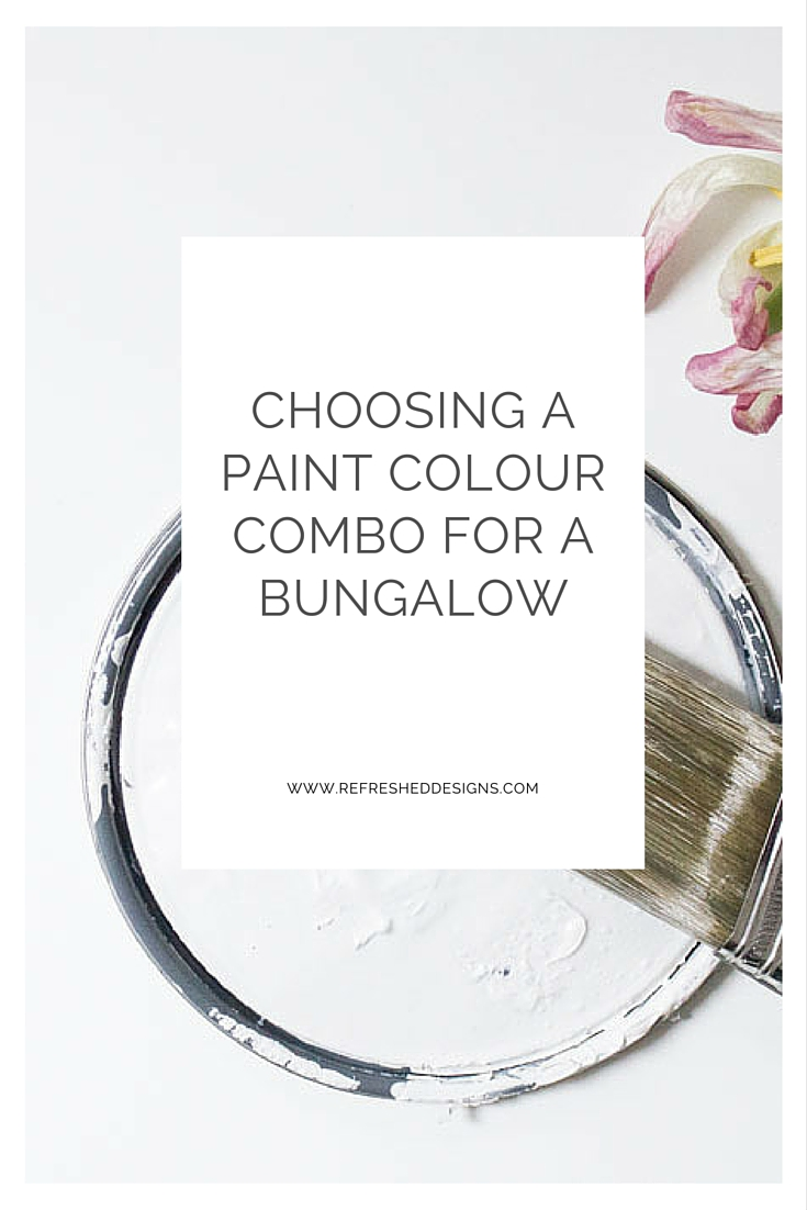 choosing home exterior paint colour combos - bungalow exterior colours