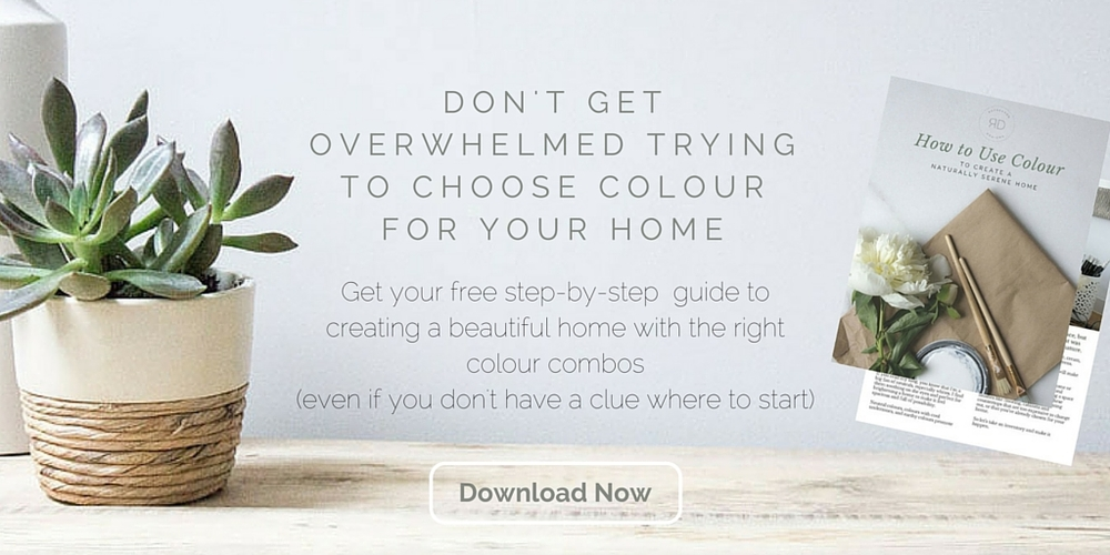 how to choose colour to create a serene home
