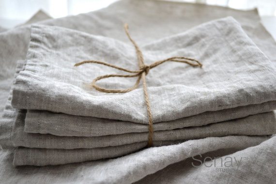 organic linen napkins and other textiles for a healthy home