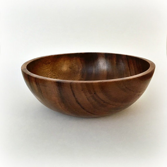 wood salad bowl - best of Etsy handmade summer home