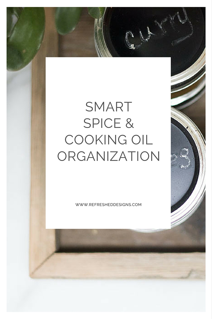 smart spice and cooking oil organization on countertop