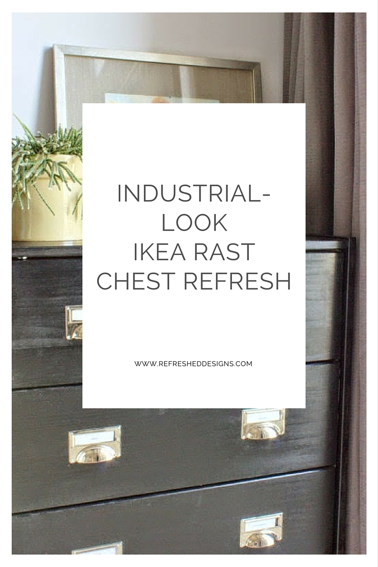 IKEA RAST chest refresh with an industrial look