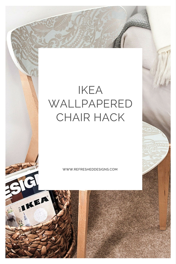 IKEA wallpapered chair hack