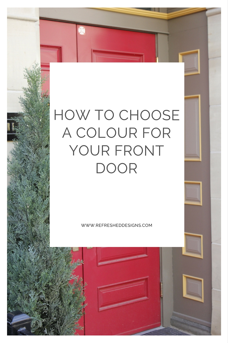 how to choose a colour for your front door - simple feng shui for front door curb appeal