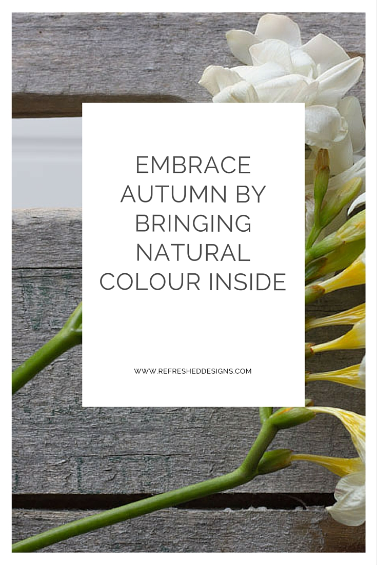 embrace autumn by bringing natural colour inside