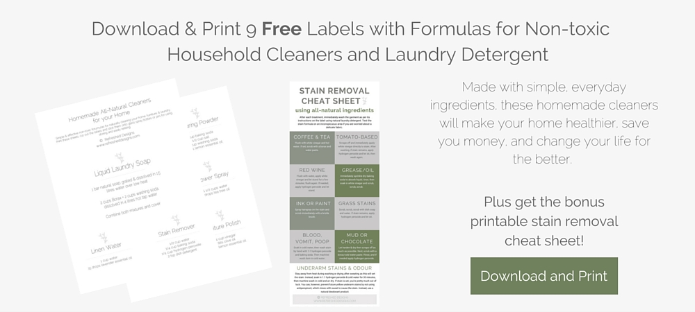 free printable labels and formulas for all-natural homemade cleaners and laundry detergent