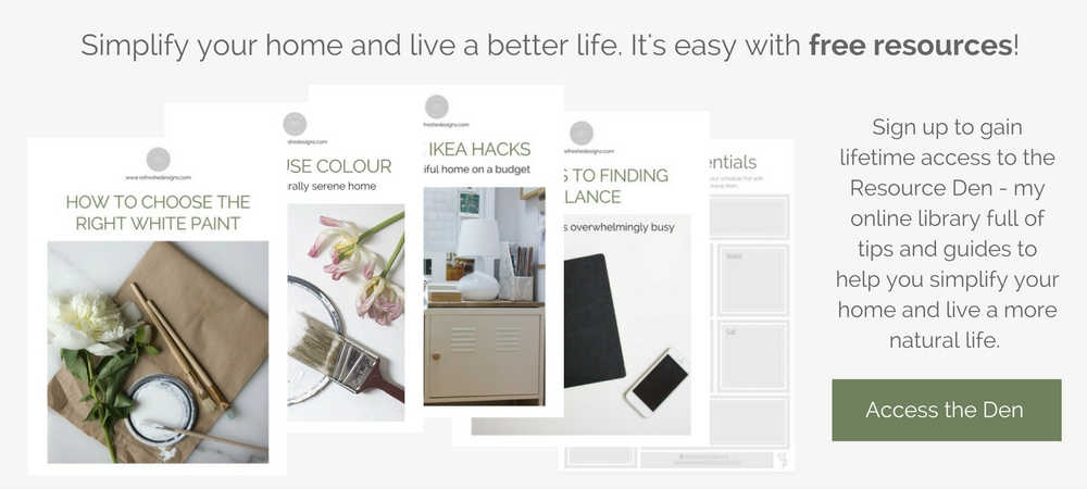 free online resource library for simple home decor and organization
