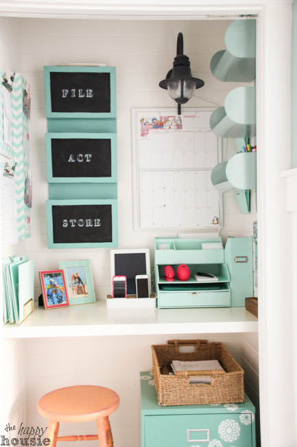 turn a closet into a command centre and home office