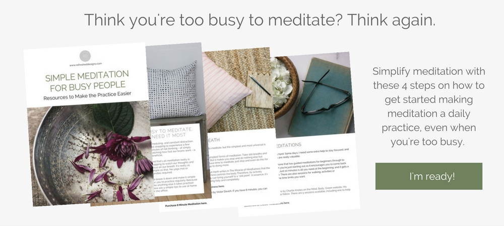 How to set up a simple meditation space at home. Meditation even for the busy people.