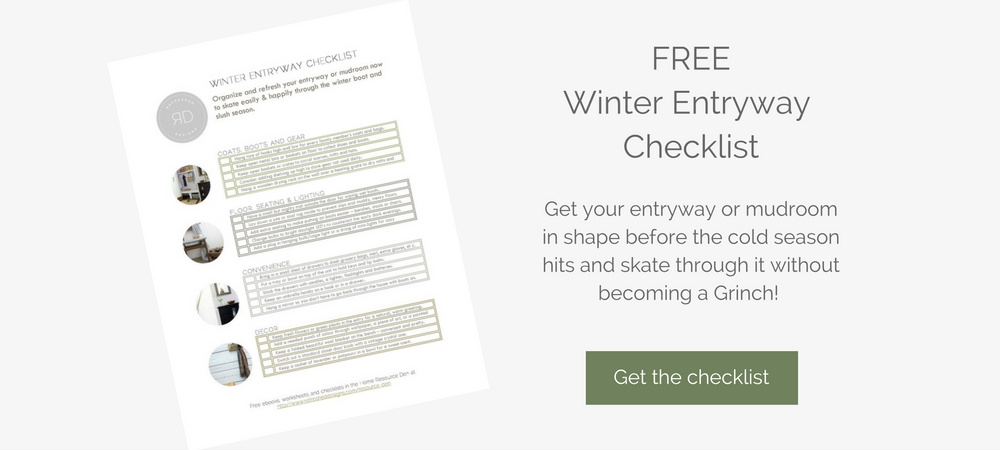 Free Checklist to get your small entryway ready for Winter