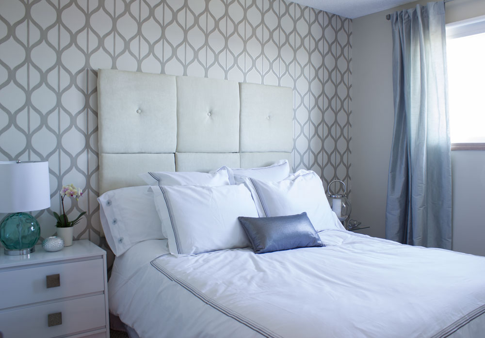 DIY 6-panel tufted headboards