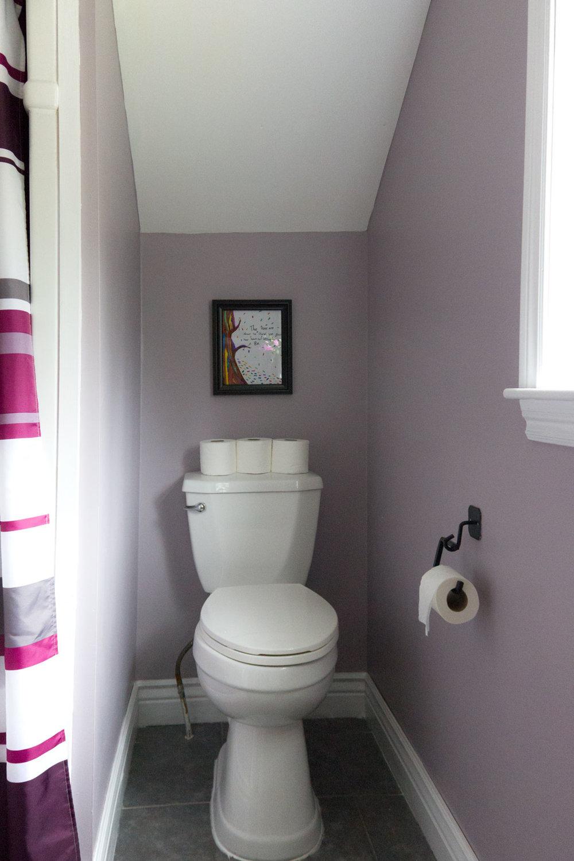 mauve bathroom using Beauti-Tone colour of 2017