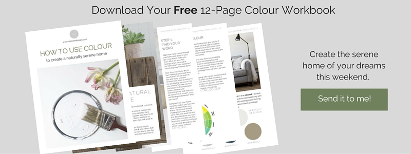 Free workbook- choosing colour for a serene home