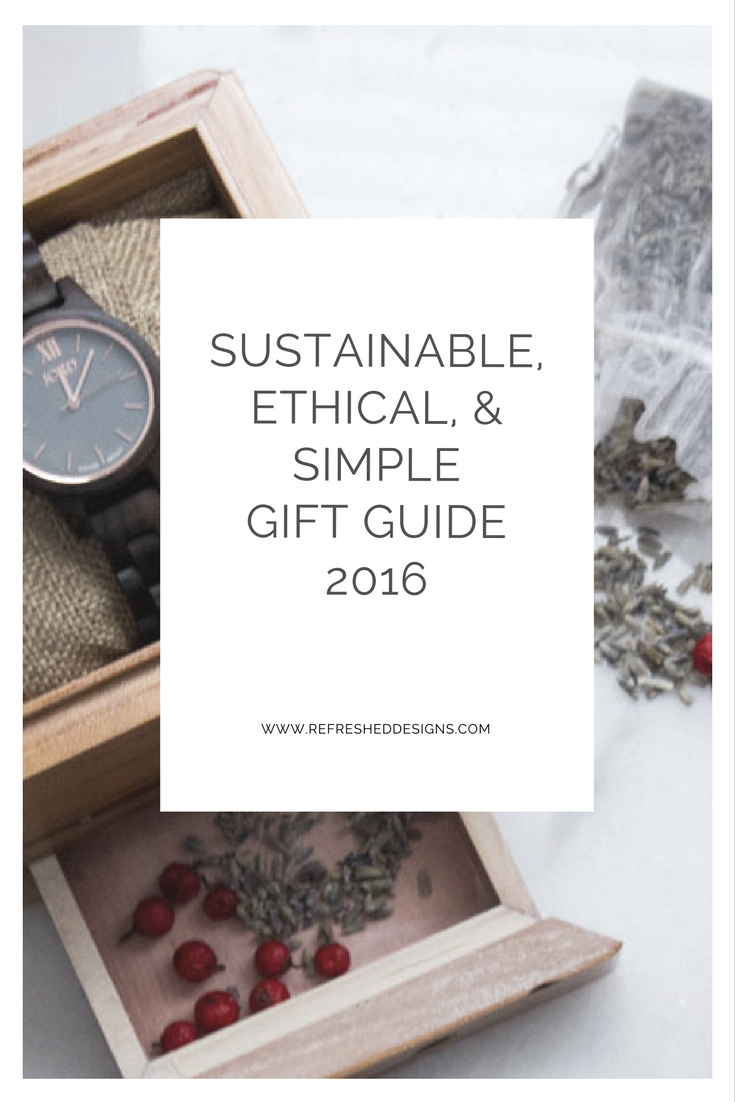 sustainable, ethical, eco-friendly and simple gift guide 2016 + Jord wood watch giveaway