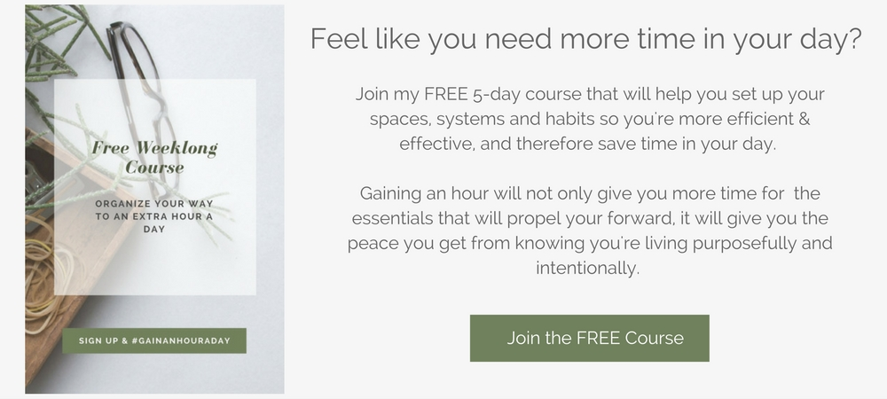 free course: organize your way to an extra hour a day