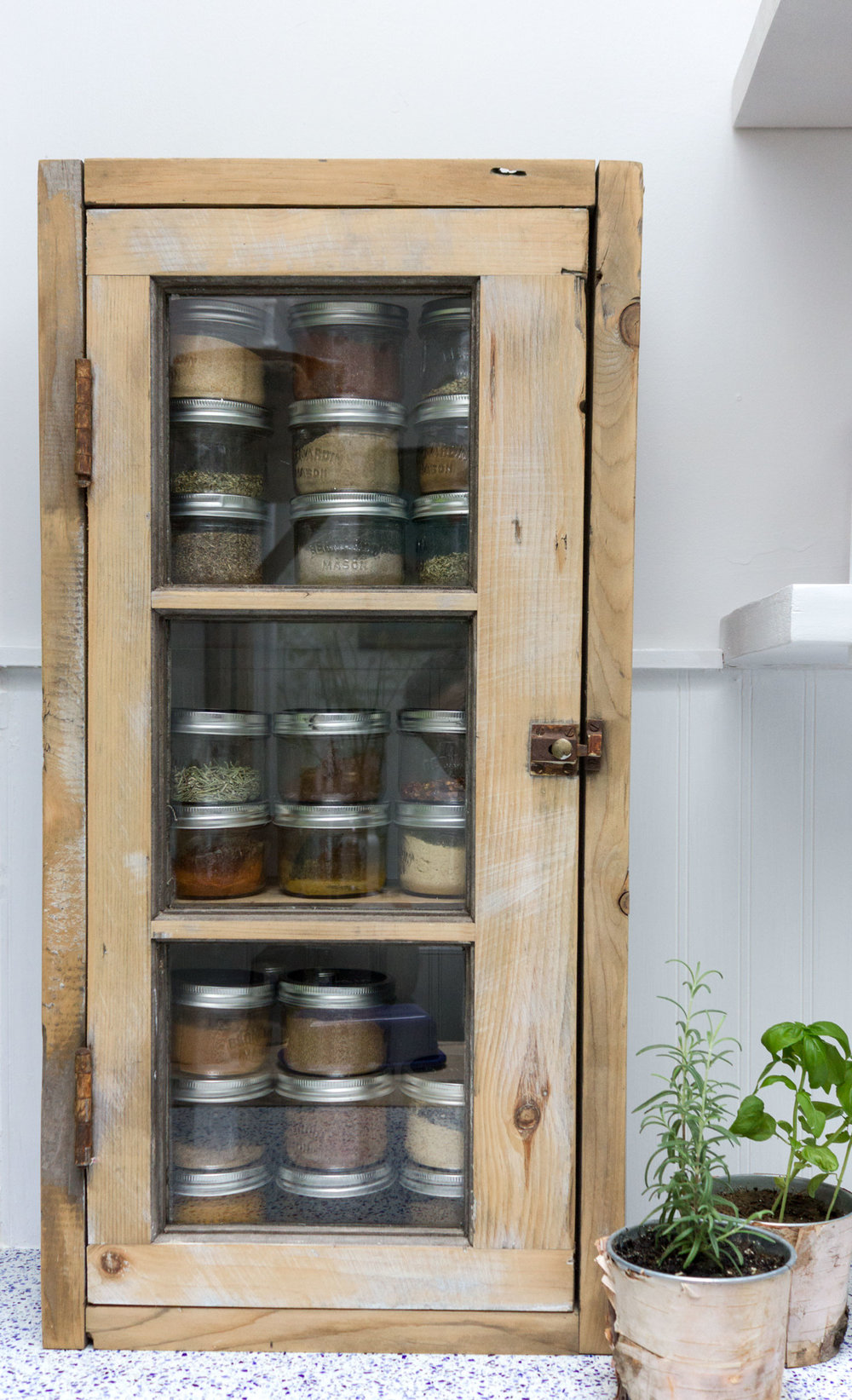 spice organization for baking and organized kitchen