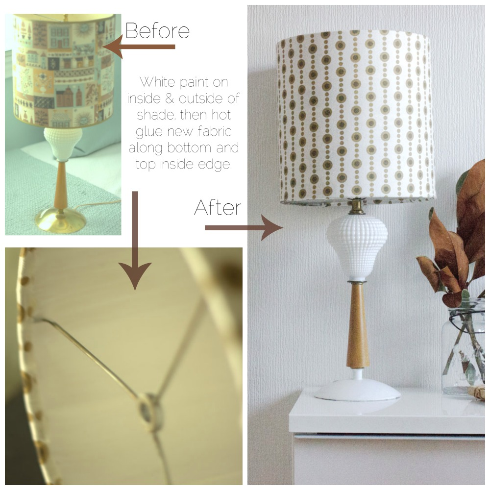 vintage lamp refresh before and after with instructions