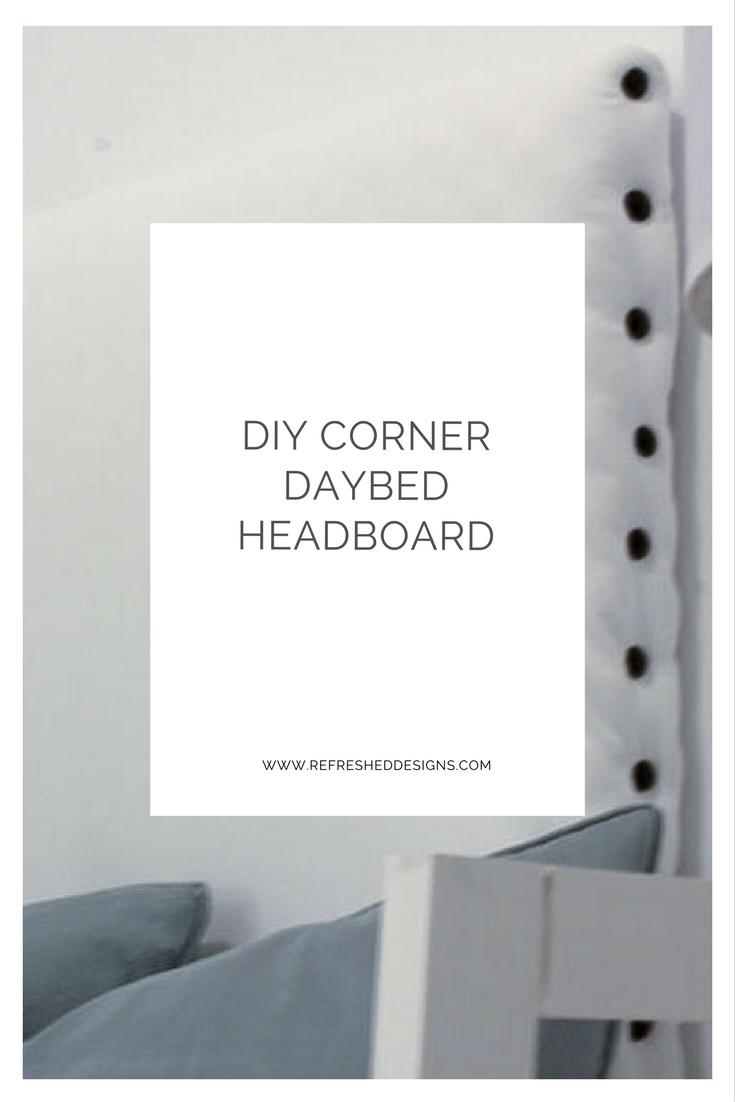 DIY  corner headboard for daybed