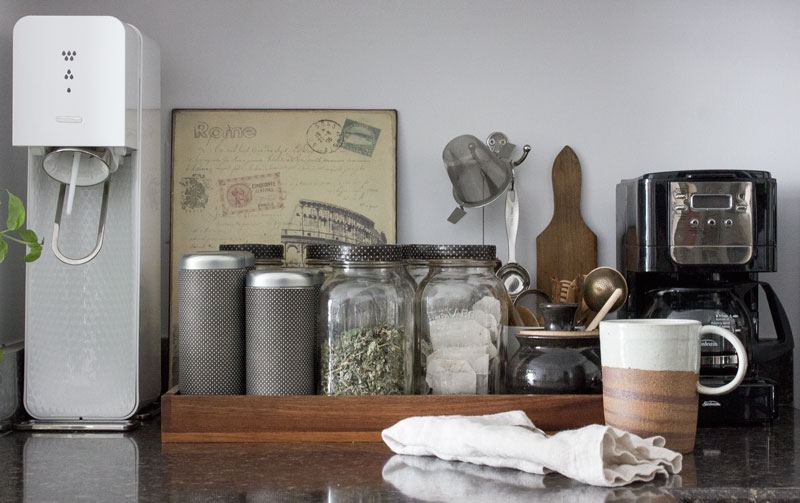 embrace hygge  by setting up your home to be happy - including creating a tea station