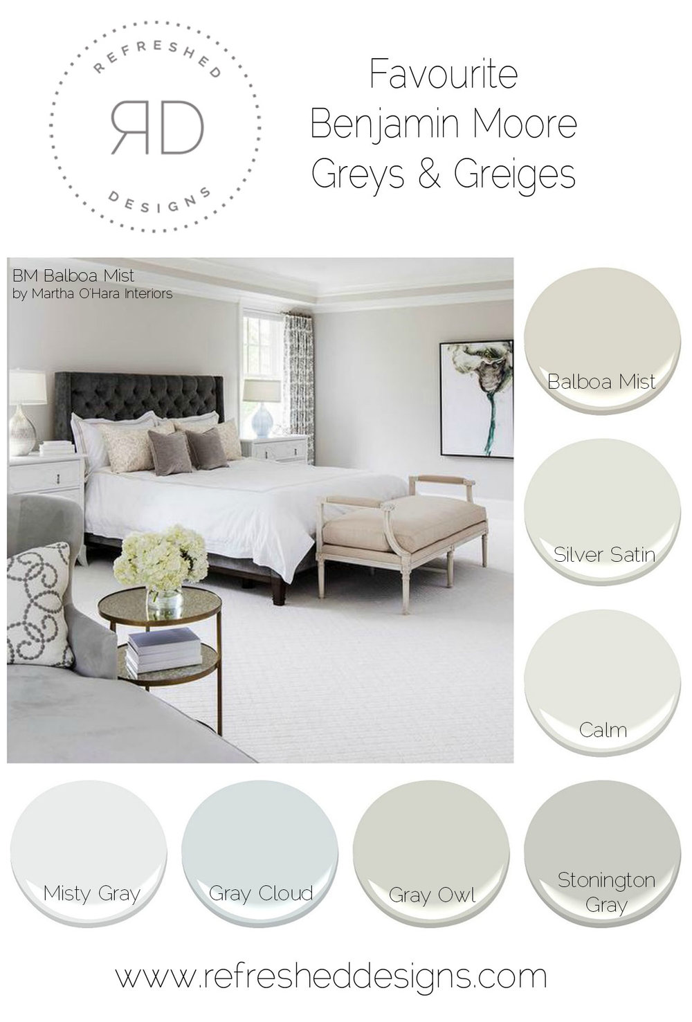 best greys and greiges - favourite BM greys