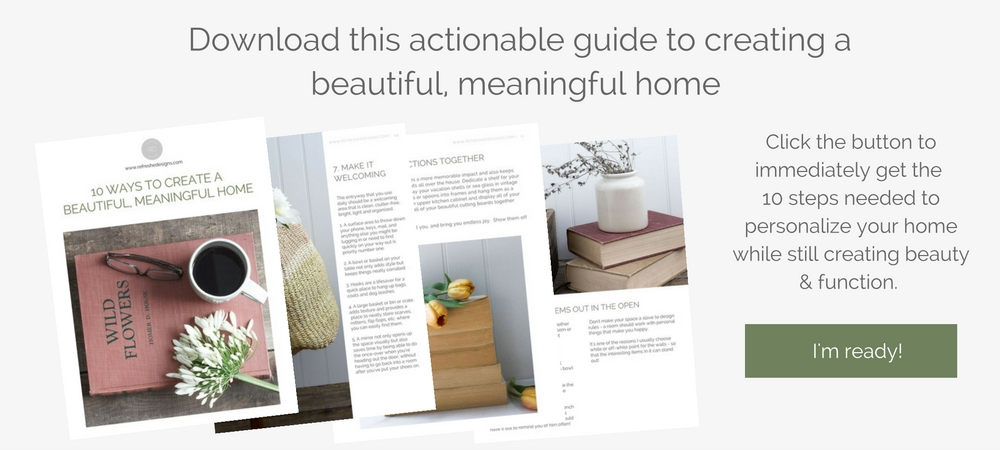 ebook on how to create a meaningful and beautiful home on a budget