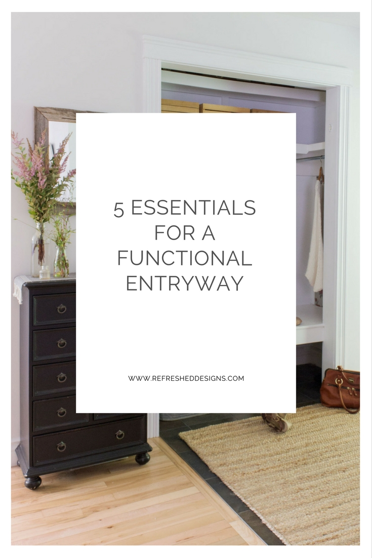 5 Essentials for a Functional Entryway – even if it's small