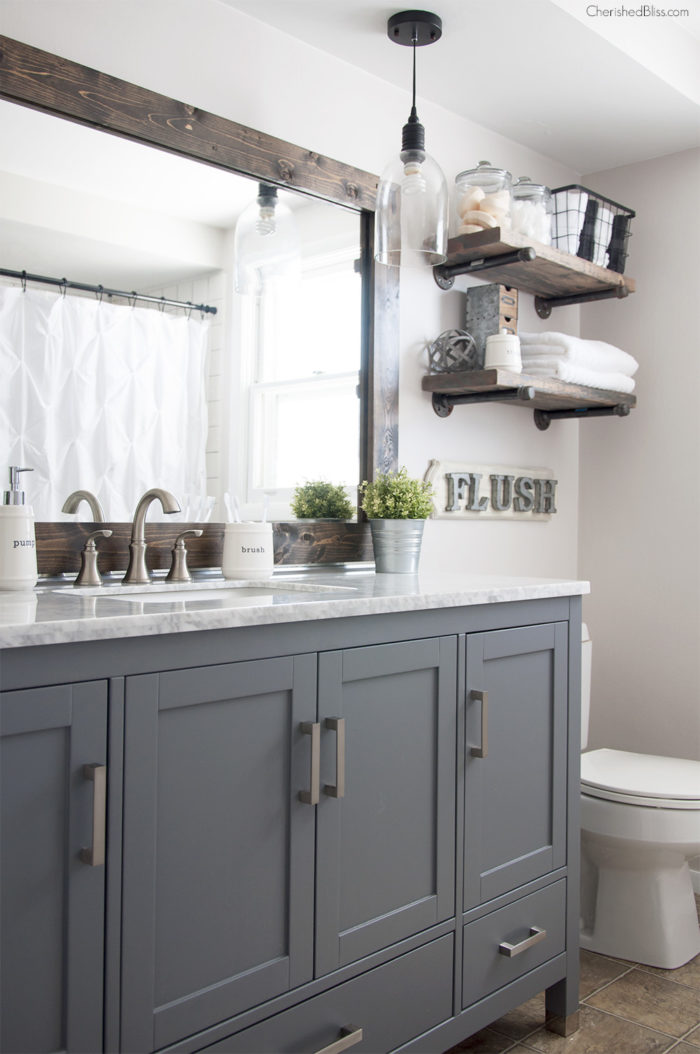 how to upgrade a basic bathroom on a budget
