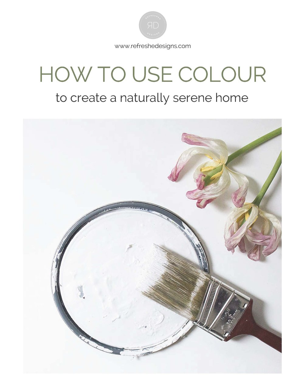 Free home decor resource guides - how to use colour to create a naturally serene home