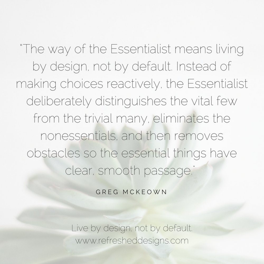 Essentialism at Home