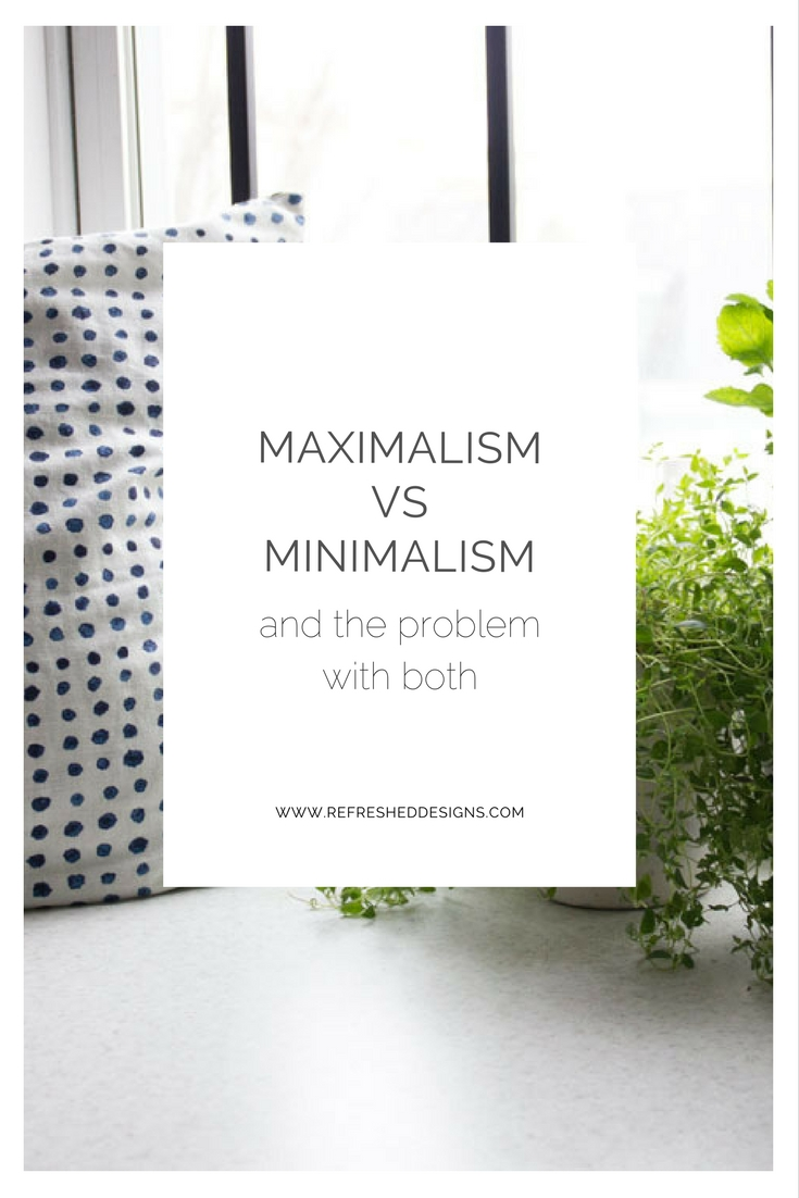 maximalism vs minimalism and the problem with both