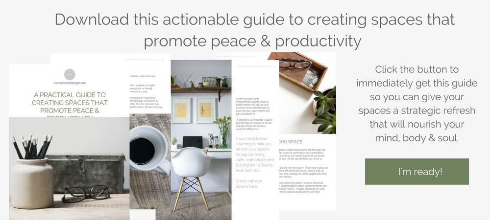 free guide to creating simple spaces that promote peace and productivity